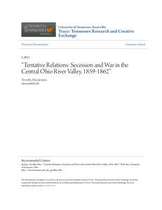 """Tentative Relations: Secession and War in the Central Ohio River"