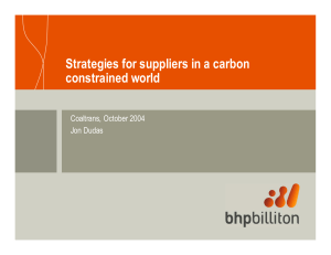 Strategies for suppliers in a carbon constrained world