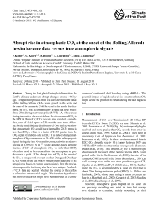 Abrupt rise in atmospheric CO2 at the onset of the Bølling/Allerød: in