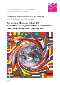 The Immigrant Inclusion Index (IMIX)