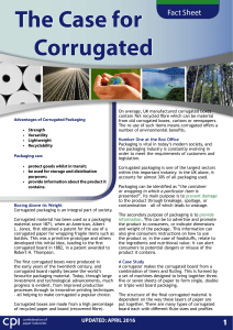 The Case for Corrugated - Confederation of Paper Industries