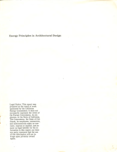 Energy Principles in Architectural Design