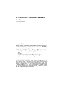 Modes of Scalar Reversal in Japanese