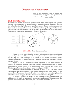 Chapter 25: Capacitance - Farmingdale State College