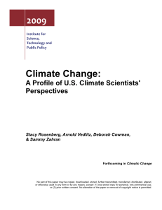 2009 Climate Change - The Bush School of Government and Public