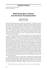 Rethinking Sport, Empire, and American Exceptionalism