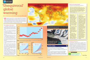 `Unequivocal` global warming