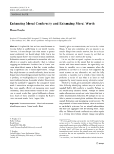 Enhancing Moral Conformity and Enhancing Moral Worth