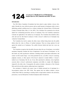 124 A Lawyer`s Medical Use of Marijuana