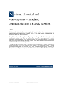 imagined communities and a bloody conflict.