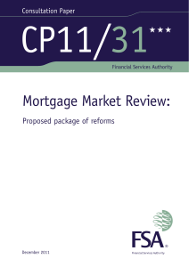 CP11/31 - Mortgage Market Review - updated 1/2/12