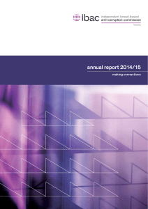 IBAC Annual Report 2014/15 - Independent broad