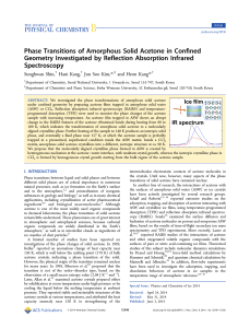 Phase Transitions of Amorphous Solid Acetone in Confined