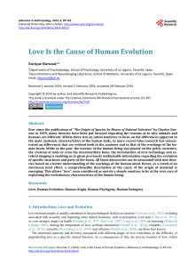 Love Is the Cause of Human Evolution