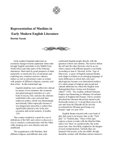 Representation of Muslims in Early Modern English Literature