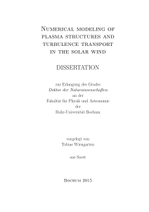 Numerical modeling of plasma structures and turbulence transport in