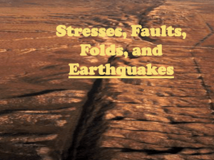 Stresses, Faults, Folds, and Earthquakes