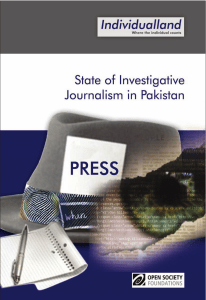 State of Investigative Journalism in Pakistan