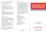 Growing Older with Marfan Syndrome pamphlet