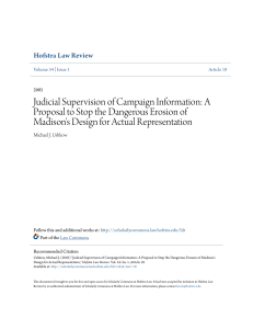 Judicial Supervision of Campaign Information
