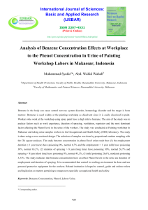 Analysis of Benzene Concentration Effects at Workplace to the