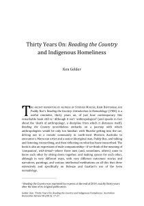 Thirty Years On: Reading the Country and Indigenous Homeliness