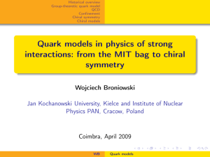 Quark models in physics of strong interactions: from the MIT bag to