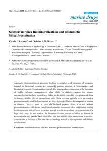 Silaffins in Silica Biomineralization and Biomimetic Silica