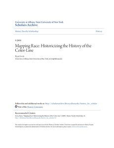 Mapping Race: Historicizing the History of the Color-Line