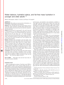 Water balance, hydration status, and fat-free mass