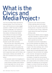 The Civics and Media Project examined the following question: How
