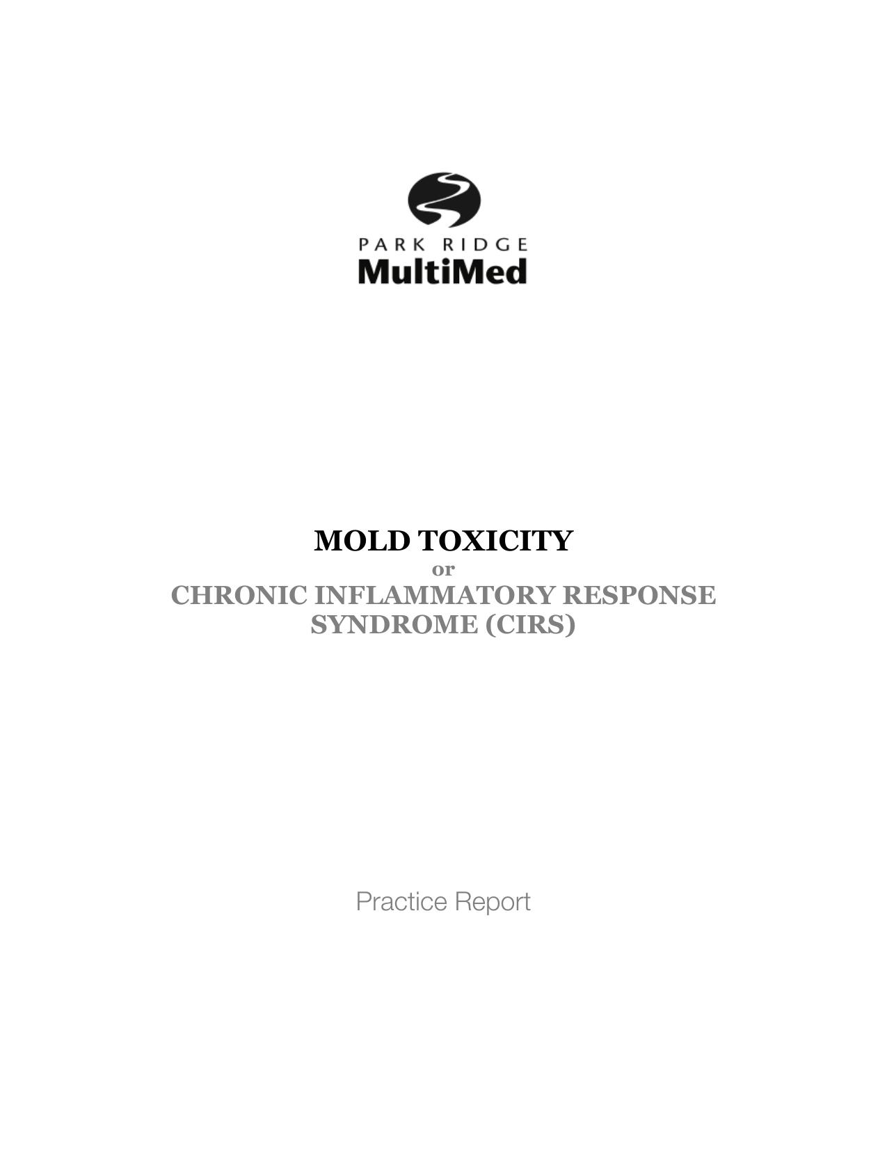 MOLD TOXICITY - Park Ridge MultiMed