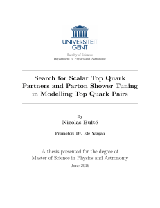 Search for Scalar Top Quark Partners and Parton Shower Tuning in