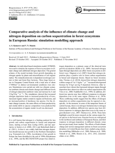 Comparative analysis of the influence of climate
