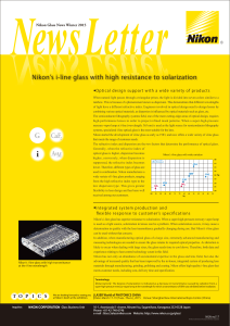 Nikon Glass News Winter 2015