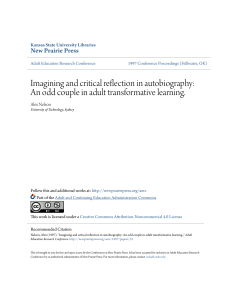 Imagining and critical reflection in autobiography: An odd couple in