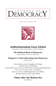 Authoritarianism Goes Global