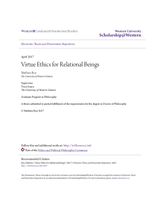 Virtue Ethics for Relational Beings