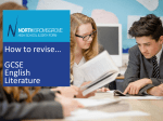 How to revise… GCSE English Literature