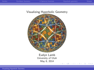 Visualizing Hyperbolic Geometry