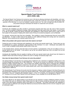 Special Needs Trust Fairness Act