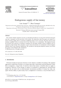Endogenous supply of fiat money