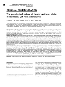 The paradoxical nature of hunter-gatherer diets