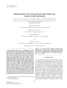 Determination of the Charon/Pluto Mass Ratio from Center-of