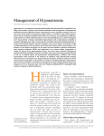 Management of Hyponatremia