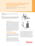 Considerations for using Thermo Scientific bath circulators and