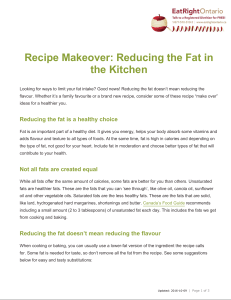 Recipe Makeover: Reducing the Fat in the Kitchen