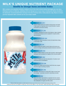 MILK`S UNIQUE NUTRIENT PACKAGE