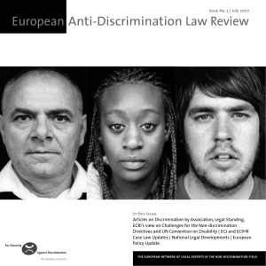 European Anti-Discrimination Law Review