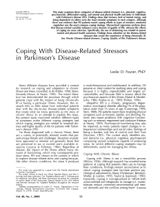 Coping With Disease-Related Stressors in